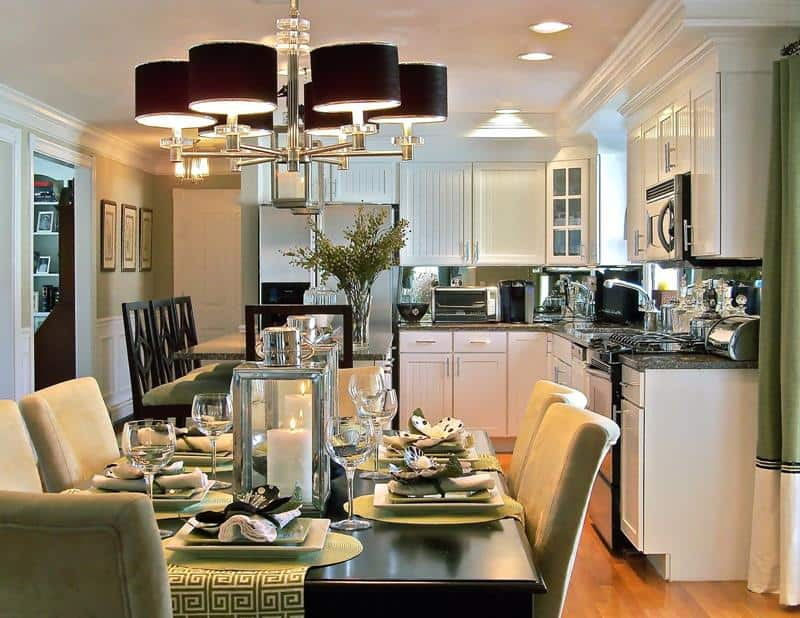 interesting kitchen dining room traditional | Big Ideas to Optimize Space of a Small Kitchen